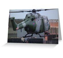 Westland Lynx(ZD278) Army Air Corp Greeting Card