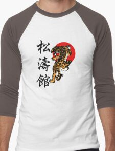 Shotokan Tiger and Kanji Men's Baseball ¾ T-Shirt