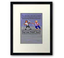 Sword Fight! Framed Print