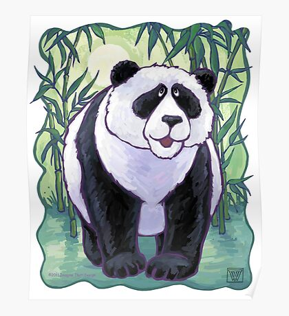 Animal Parade Panda Bear Poster