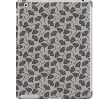 Ginkgo Vector Black on Warm Grey iPad Case/Skin