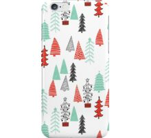 Christmas Forest - Red and Green by Andrea Lauren  iPhone Case/Skin