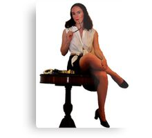 Geeky Pin-Up: Chess Metal Print