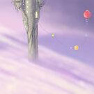 Tower and Balloons by Jin Dey