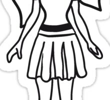Girl doll clothes Sticker