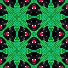 Tropical Black Panther Pattern by chobopop