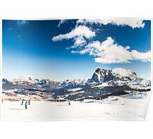 Italian Dolomiti ready for ski season Poster