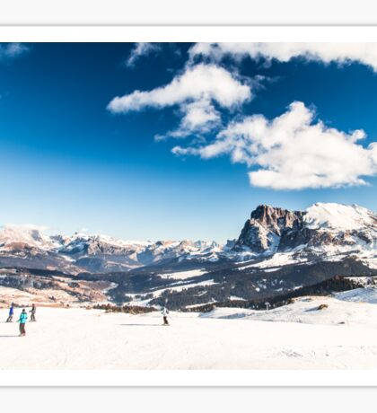 Italian Dolomiti ready for ski season Sticker