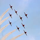 Red Arrows  -  Evening Formation by warbirds
