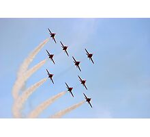 Red Arrows  -  Evening Formation Photographic Print