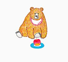Hungry bear with an apple Unisex T-Shirt