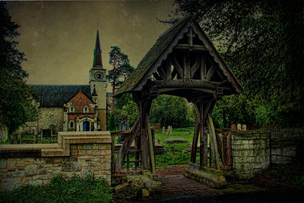 St Andrews Church Gatton and Lychgate by Dave Godden