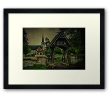 St Andrews Church Gatton and Lychgate Framed Print