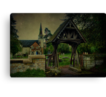 St Andrews Church Gatton and Lychgate Canvas Print