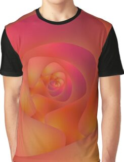 Spiral Labyrinth in Pink and Orange Graphic T-Shirt