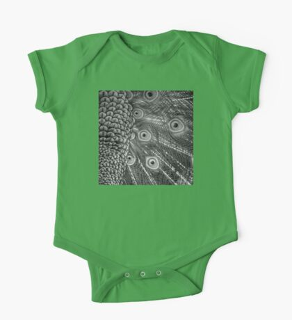 Mom and Baby matching Peacock Twilight Qtees! One Piece - Short Sleeve