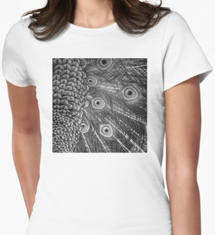 Mom and Baby matching Peacock Twilight Qtees! Womens Fitted T-Shirt
