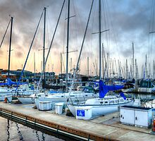 Yachts At Monterrey Wharf by Diego  Re