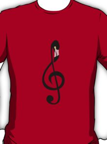 Flamingo Clef T-Shirt