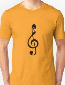 Flamingo Clef Unisex T-Shirt