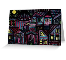 Pastel city Greeting Card
