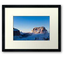 snowy winter in the dolomiti Framed Print