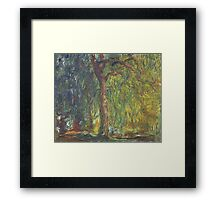 Weeping Willow by Claude Monet Framed Print