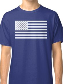 American Flag, WHITE, NAVY, Stars & Stripes, Pure & Simple, America, USA Classic T-Shirt