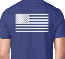 American Flag, WHITE, NAVY, Stars & Stripes, Pure & Simple, America, USA Unisex T-Shirt