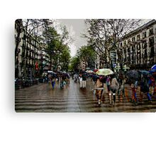 Memories of Spain 10 - Barcelona Las Ramblas Canvas Print