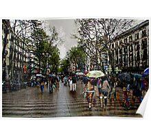 Memories of Spain 10 - Barcelona Las Ramblas Poster