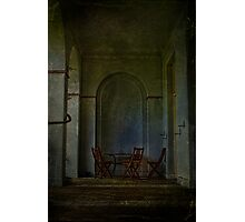 Table And Chairs In The Colonade Photographic Print