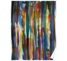Looking out Through Coloured Bark Poster