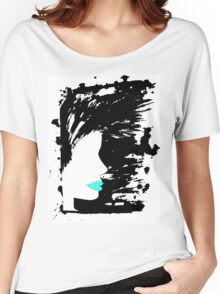 Blue Lippy. Women's Relaxed Fit T-Shirt