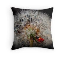 fairy ladybird Throw Pillow