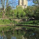 Conisbrough Castle Reflections  by John Dunbar