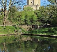Conisbrough Castle Reflections  by John Dunbar