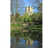 Conisbrough Castle Reflections  Photographic Print