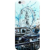 Taxi Marathon - London Cabs iPhone Case/Skin