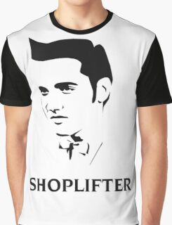 The Smiths Shoplifter Elvis Morrissey Cartoon Graphic T-Shirt