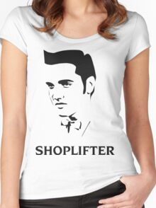 The Smiths Shoplifter Elvis Morrissey Cartoon Women's Fitted Scoop T-Shirt