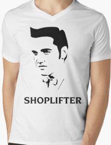 The Smiths Shoplifter Elvis Morrissey Cartoon Mens V-Neck T-Shirt