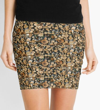 Small branches in woodpile Mini Skirt