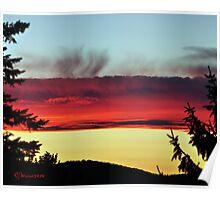 Lava Sunset Poster