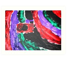 Camera Colour Flash Lomography Art Print
