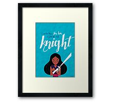 His Knight - Connie Framed Print