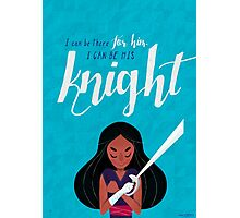 His Knight - Connie Photographic Print