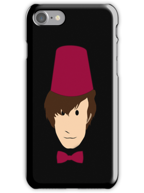 Doctor who inspired: Matt Smith Bowtie Iphone case by kevinlartees