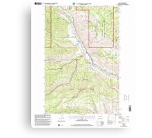 USGS Topo Map Washington State WA Nile 242823 2000 24000 Canvas Print