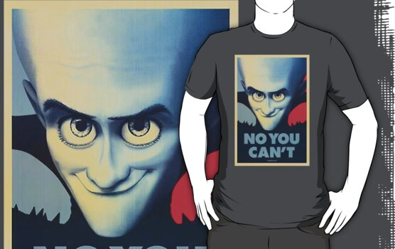 Megamind - Will Ferrell - Obama T-shirt by eaaasytiger
